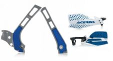 New Acerbis Frame Cover X-Grip YZ 125 250 06-18 X Ultimate HandGuards BLUE WHT